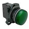 Allen Bradley, 800F, Panel Green LED Pilot Light,
