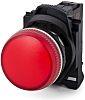 Allen Bradley, 800F, Panel Red LED Pilot Light,