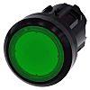 Siemens SIRIUS ACT Series, Green Push Button, Latching,