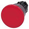 Siemens Mushroom Red Push Button - Momentary, SIRIUS