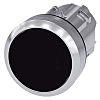 Siemens Flat Black Push Button - Latching, SIRIUS