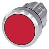 Siemens Flat Red Push Button - Latching, SIRIUS