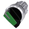 Siemens SIRIUS ACT Selector Switch - 2 Position, Latching, 22mm cutout