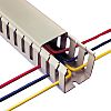 Betaduct Grey Slotted Panel Trunking - Open Slot,