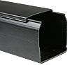 Betaduct Black Industrial Trunking - Closed Slot, W25
