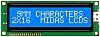 Midas MC21609AB6W-BNMLW-V2 AB Alphanumeric LCD Display, Blue on