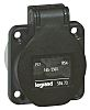 Legrand IP54 Black Panel Mount 2P+E Industrial Power