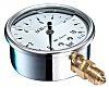 Bourdon G 1/4 Bottom Entry Pressure Gauge 16bar RS Calibration, MIT3D22B24