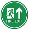 Vinyl Fire Exit Arrow, FIRE EXIT, English, Exit