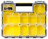 Stanley 10 Cell Black, Yellow Compartment Box, 74mm
