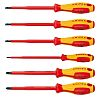 Knipex 1000V Phillips; Slotted Screwdriver Set 6 Piece