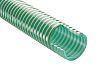 RS PRO PVC Hose, Green, 39.6mm External Diameter, 10m LongReinforced, 127 (Minimum)mm Bend Radius, Applications Various