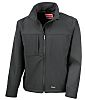 RS PRO Black Men's Softshell Jacket, XXL