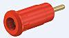 Staubli Red Female Banana Plug - Press Fit