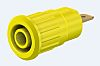 Staubli Yellow Female Banana Plug - Press Fit