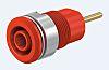 Staubli Red Female Banana Plug - Screw Termination,