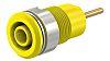 Multi Contact Yellow Female Banana Plug - Screw,