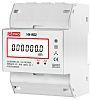 RS PRO Energiamérő LCD, 7-számjegyes, 3-fázisú, impulzuskimenettel, 1-es osztály