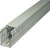 SES Sterling Kabelkanal mit Abdeckung, Verdrahtungskanal, Kunststoff, Grau, 40 mm x 40mm, Länge 2m