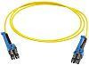Cable para Fibra Óptica Huber & Suhner PCRS_LCUX_LCUX_A221T_04.0_SS LC / LC Amarillo
