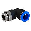RS PRO Threaded-to-Tube Swivel Elbow Adaptor M5 to