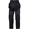 Snickers FlexiWork Black Men's Polyester Trousers Waist Size