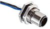 RS PRO Straight M12 to Unterminated Connector &