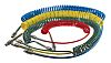 Legris 4m Yellow Coil Tubing with Connector, PUR,