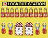 10 Padlock Lockout Station