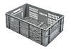 RS PRO 47L Grey PP Euro Containers, 240mm