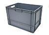 RS PRO 76L Grey PP Large Euro Containers,