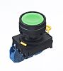 Idec, YW Illuminated Green Flush Push Button Complete