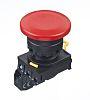 Idec, YW Illuminated Red Mushroom Push Button Complete