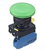 Idec, YW Illuminated Green Mushroom Push Button Complete
