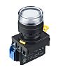Idec, YW Illuminated White Push Button Complete Unit,