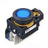 Idec, CW Illuminated Blue Flush Push Button, NO,
