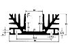 Heatsink, Universal Rectangular Alu, 1000 x 88 x 35mm
