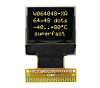 Electronic Assembly Yellow Passive matrix OLED Display 64