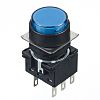 Blue Round Push Button Switch