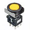Yellow Round Push Button Switch