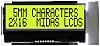 Midas MCCOG21605B6W-SPTLYI Alphanumeric LCD Display Yellow-Green,