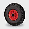 RS PRO Polypropylene, Polyurethane Black, Red Castor Wheels,