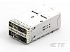 TE Connectivity zQSFP+ Connector & Cage Female 4-Port