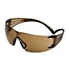 3M SecureFit™ 400 Anti-Mist UV Safety Glasses, Brown