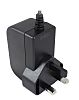 RS PRO, 18W Plug Adapter 9V dc, 2A, Level VI Efficiency, 1 Output Power Adapter, Type G