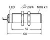 Turck Ultrasonic Sensor Barrel S18, 50 → 500mm,