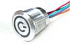 Capacitive Push Button Switch, Momentary ,Illuminated, Red, IP68