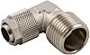 RS PRO Threaded-to-Tube Elbow Connector R 3/8 to