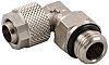 RS PRO Threaded-to-Tube Swivel Elbow Adaptor G 1/4