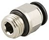 RS PRO Pneumatic Straight Threaded-to-Tube Adapter, Push In